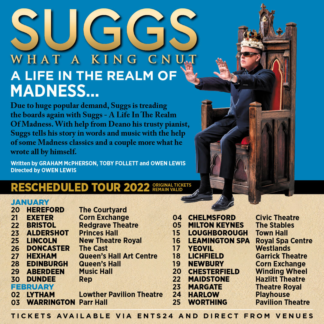 Suggs What A King Cnut Tour Poster