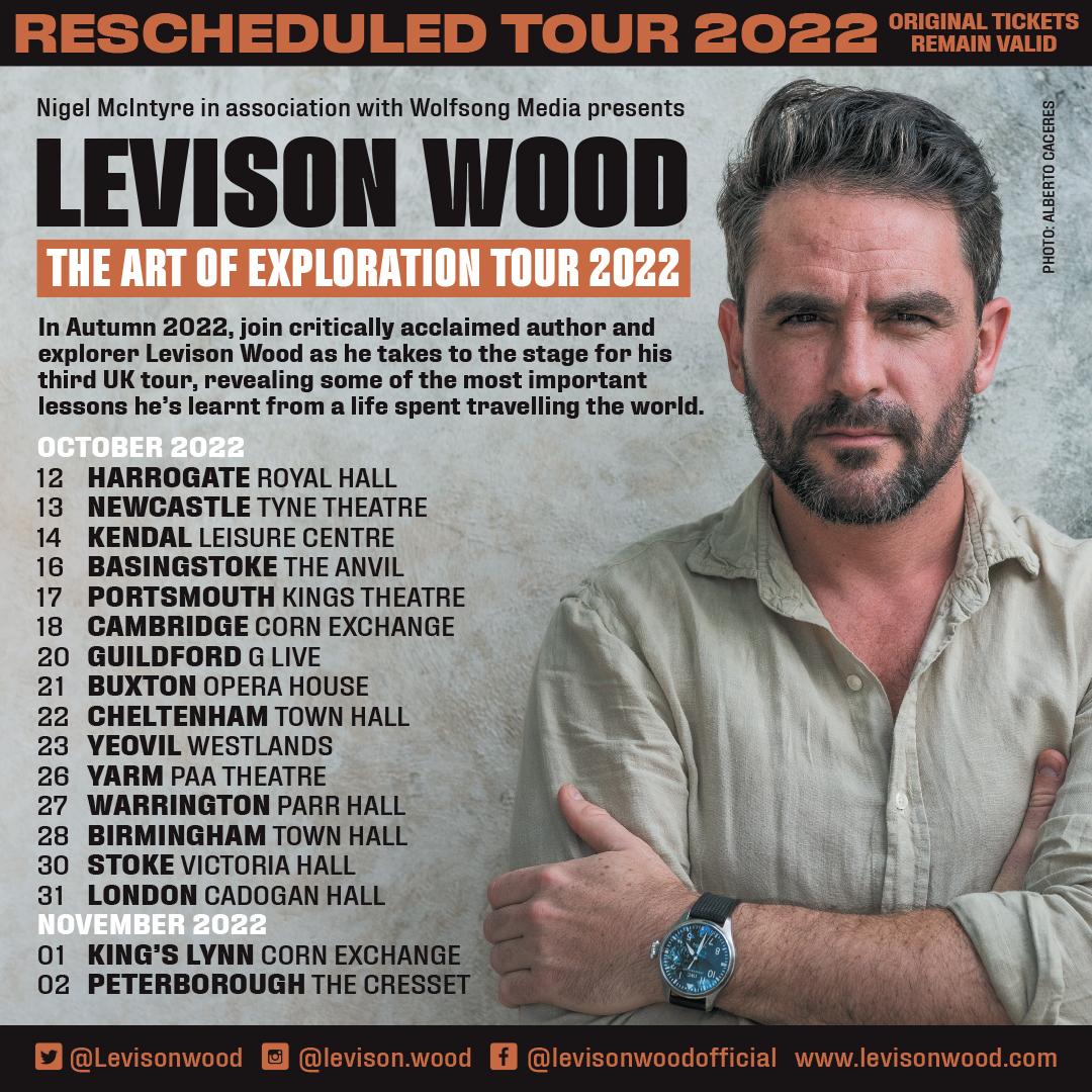 Levison Wood Tour 2022